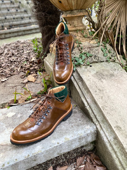 Horween shell cordovan hiking boots 10