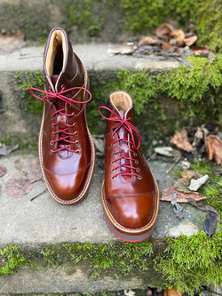 Horween shell cordovan sneakers
