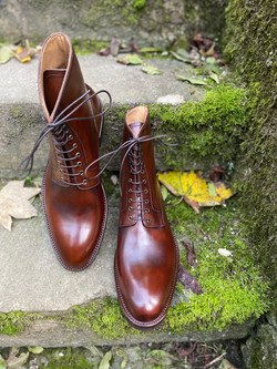 Museum Brown Calf London Plain Toe Boots