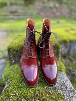 Captoe Horween shell cordovan boots col.4