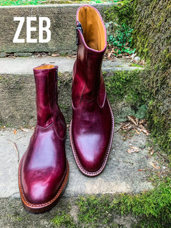 Leather-Boots-Zip-Horsehide-Burgundy-Gal4