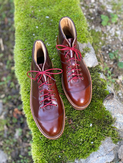 Horween shell cordovan sneakers 4