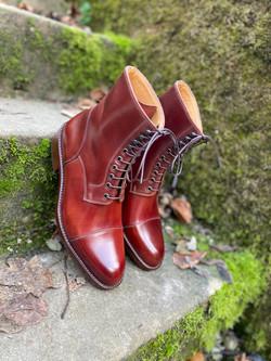 Captoe Horween shell cordovan boots col.4 3