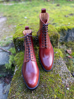 Plain toe Horween shell cordovan boots col.4 8