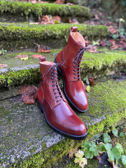 Plain toe Horween shell cordovan boots col.4 3
