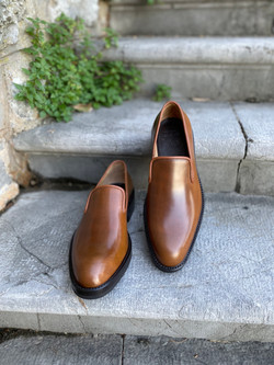 Bourbon Horween shell cordovan slippers loafers 5