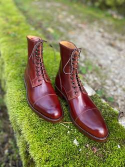 Captoe Horween shell cordovan boots col.4 6