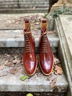 Captoe Horween shell cordovan boots col.4 15
