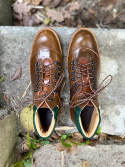 Horween shell cordovan hiking boots 6