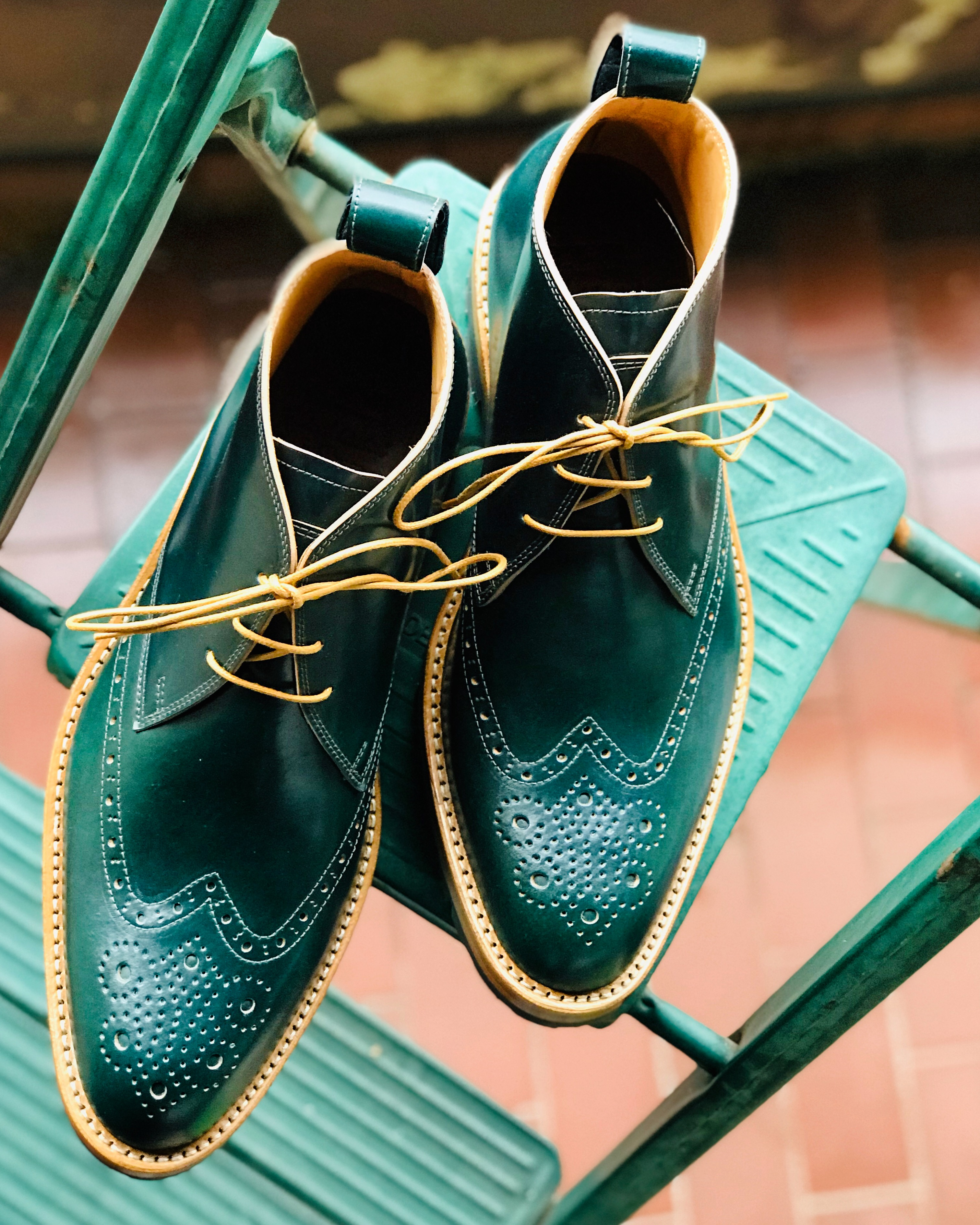 Leather-Boots-Chukka-Shell-Green-Gal3