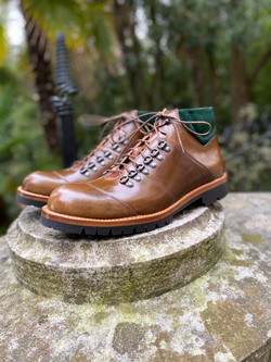 Horween shell cordovan hiking boots 9