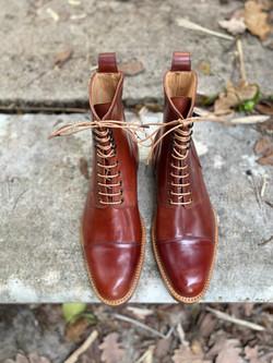 Captoe Horween shell cordovan boots col.4 12