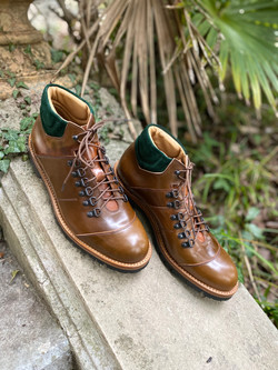 Horween shell cordovan hiking boots