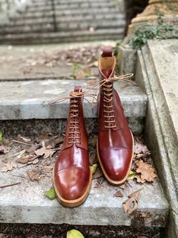 Captoe Horween shell cordovan boots col.4 16