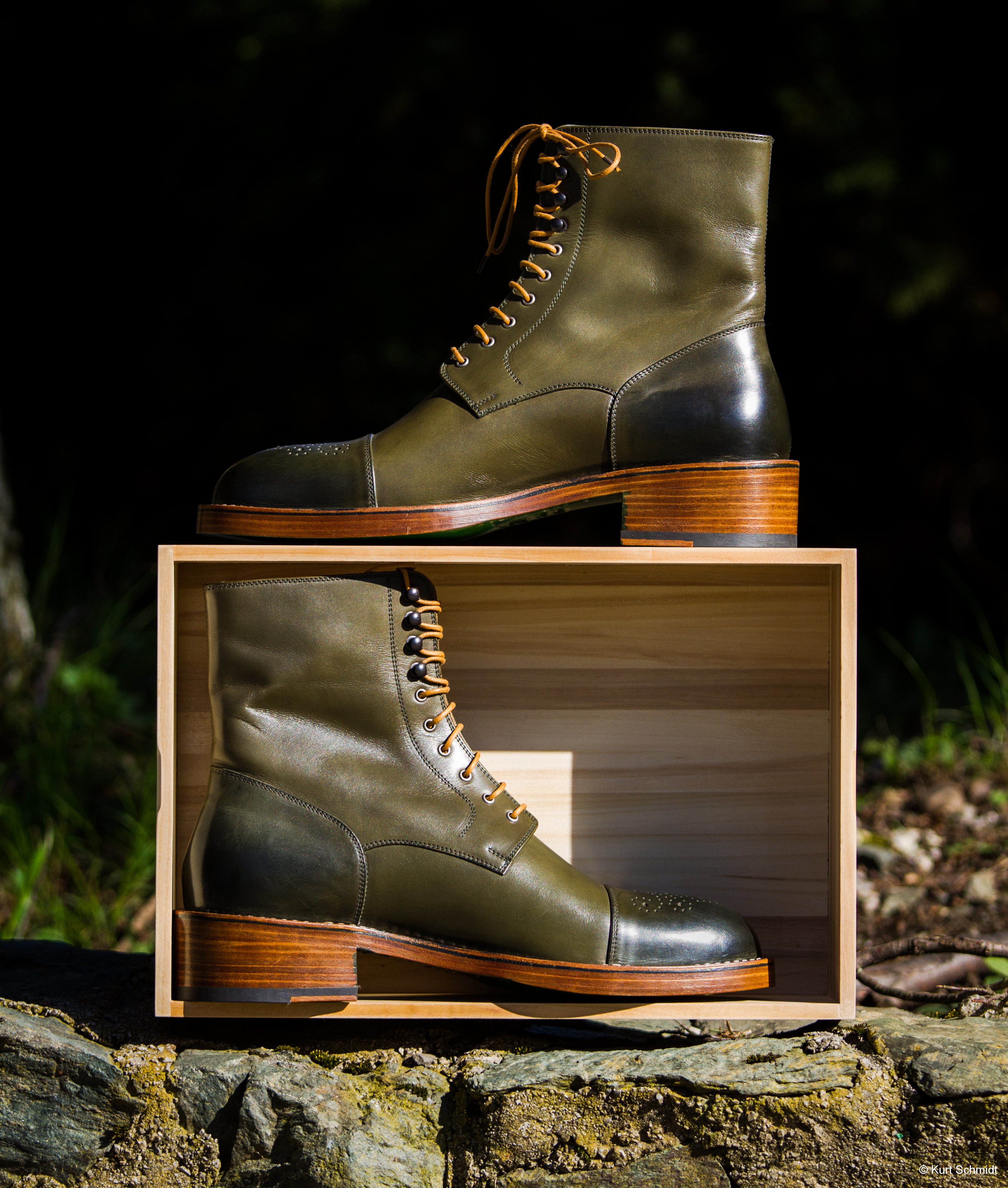 Leather-Boots-London-Green-Gal5
