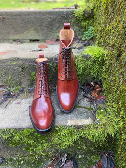 Plain toe Horween shell cordovan boots col.4 6