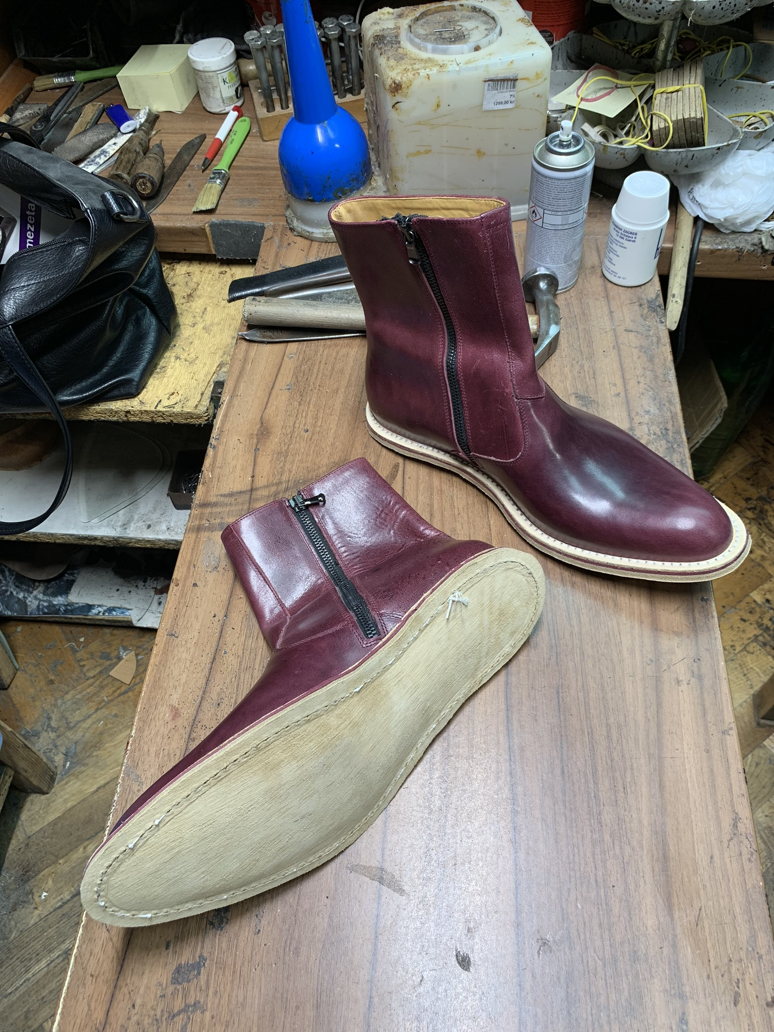 Leather-Boots-Zip-Horsehide-Burgundy-Gal8