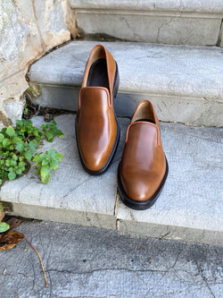 Bourbon Horween shell cordovan slippers loafers 6