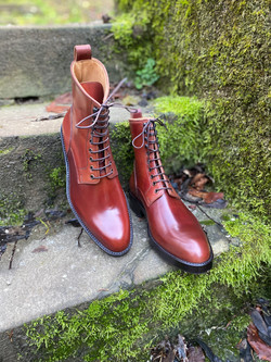 Plain toe Horween shell cordovan boots col.4 2