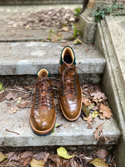 Horween shell cordovan hiking boots 4