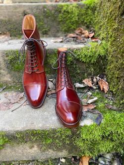 Captoe Horween shell cordovan boots col.4 5