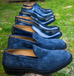 Blue nappa roughout slipper 3