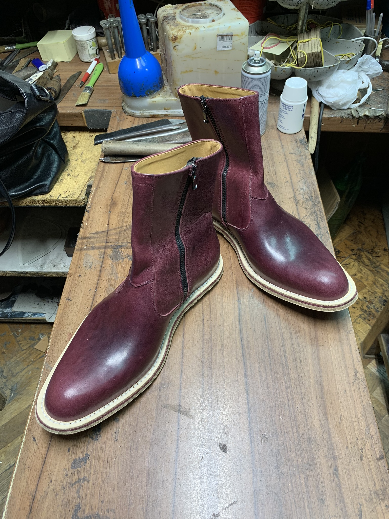 Leather-Boots-Zip-Horsehide-Burgundy-Gal9