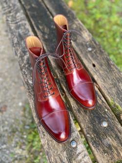 Captoe Horween shell cordovan boots col.4 9