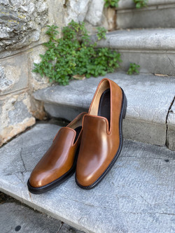 Bourbon Horween shell cordovan slippers loafers 4