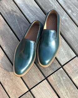 Leather-Shoes-Slippers-Shell-Green-Gal1