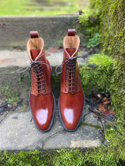 Plain toe Horween shell cordovan boots col.4 12
