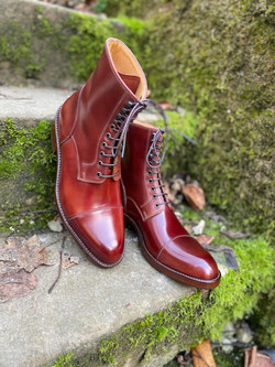 Captoe Horween shell cordovan boots col.4 4