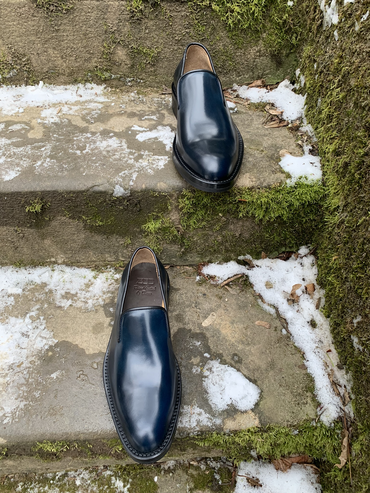 Leather-Shoes-Slippers-Shell-Navy-Gal3