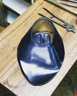 Leather-Shoes-Slippers-Shell-Navy-Gal13