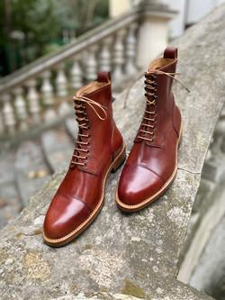 Captoe Horween shell cordovan boots col.4 11