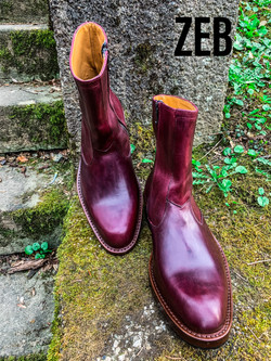 Leather-Boots-Zip-Horsehide-Burgundy-Gal1