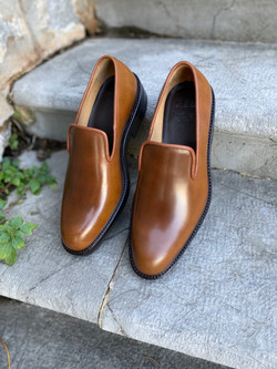 Bourbon Horween shell cordovan slippers loafers 3