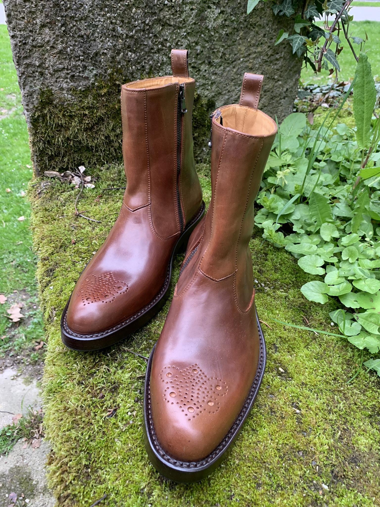 Tocanello horsehide zip boots 8