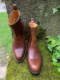 Tocanello horsehide zip boots 7