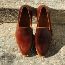 Leather-Shoes-Slippers-Shell-Brown-Gal1