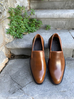 Bourbon Horween shell cordovan slippers loafers 2