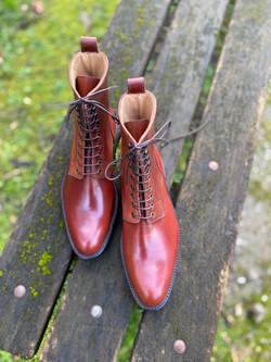 Plain toe Horween shell cordovan boots col.4 4