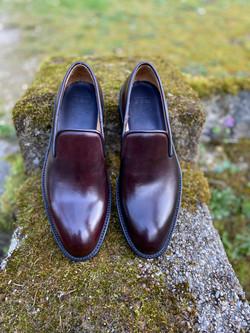 Horsehide burgundy slipper loafer 3