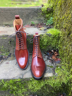 Plain toe Horween shell cordovan boots col.4 9