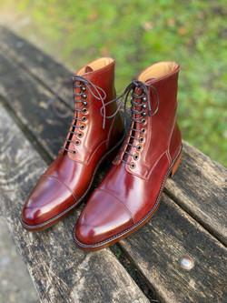 Captoe Horween shell cordovan boots col.4 8
