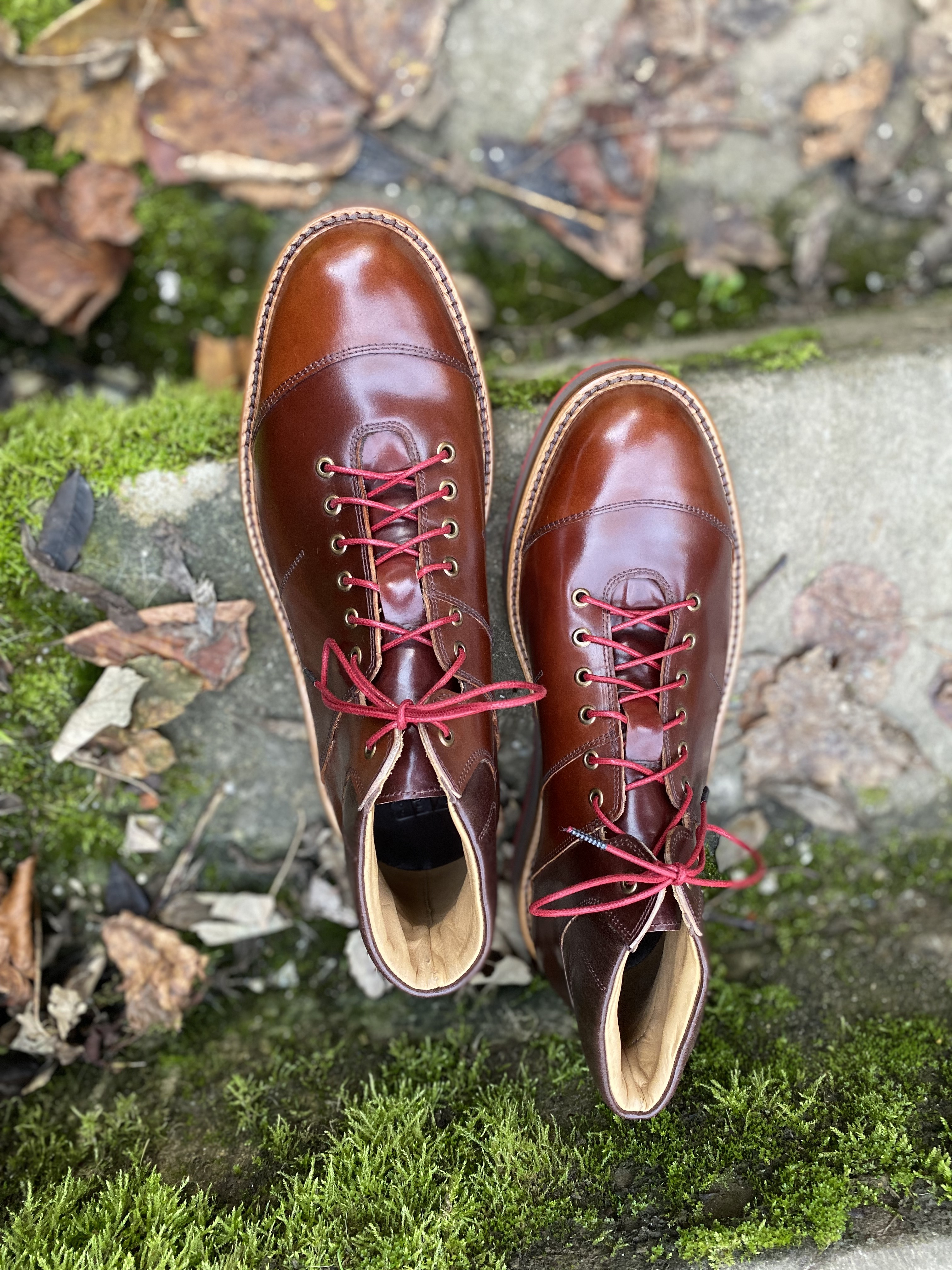 Horween shell cordovan sneakers 8