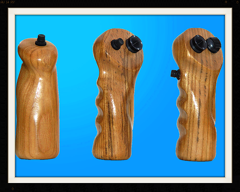 teak custom airplane grips