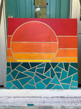 GEOMETRIC SEA WITH SUN