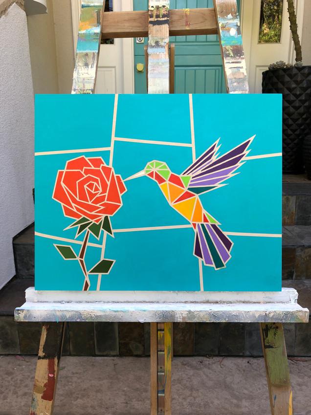 HUMMINGBIRD ROSE