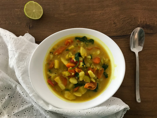 Curry di Verdure e crema di cocco